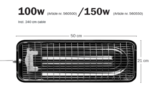 Master Heater dimensions